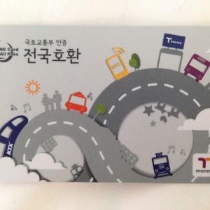 韓国のsuicaみたいなやつ。交通カード